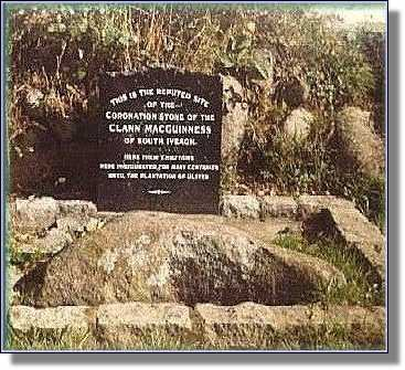 The Coronation Stone of the Magennises, Warrenpoint, County Down.